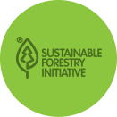 Green logo of sustainable forestry initiative